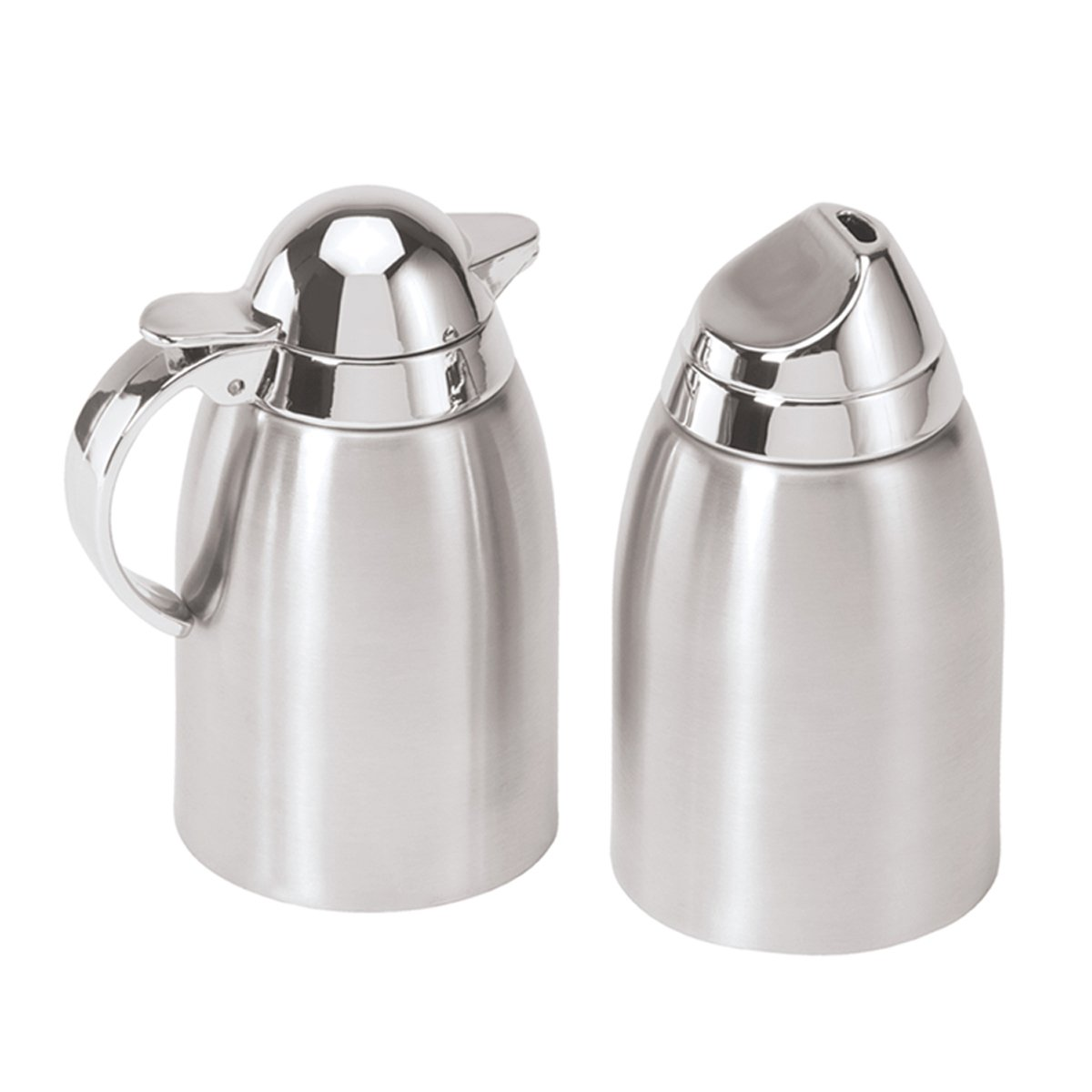Oggi 7117 Stainless Steel Sugar & Creamer Set with mirror ABS tops