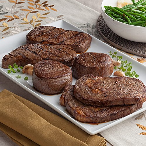 Gourmet Foods, Steak Lover's Triple Treat, Two 10 oz. Ribeyes Two 10 oz. New York Strips Two 8 oz. Filet Mignons by Unknown