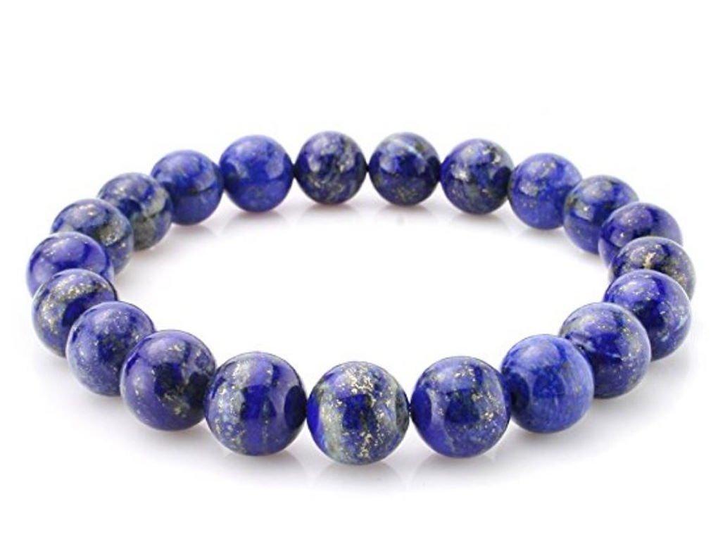 Natural Lapis Lazuli Bracelet Gemstone Bracelet 7'' Stretchy Chakra Stones Healing Crystal Great Gifts (Unisex) #GB8-20