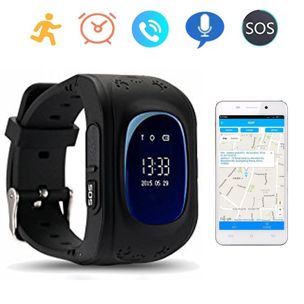 Q50 Gps Kids Watches Baby Smart Watch For Children Sos Call Location Wardah Roll On Him Finder Locator Tracker Anti Lost Monitor Smartwatch Sim Card Not Included Black