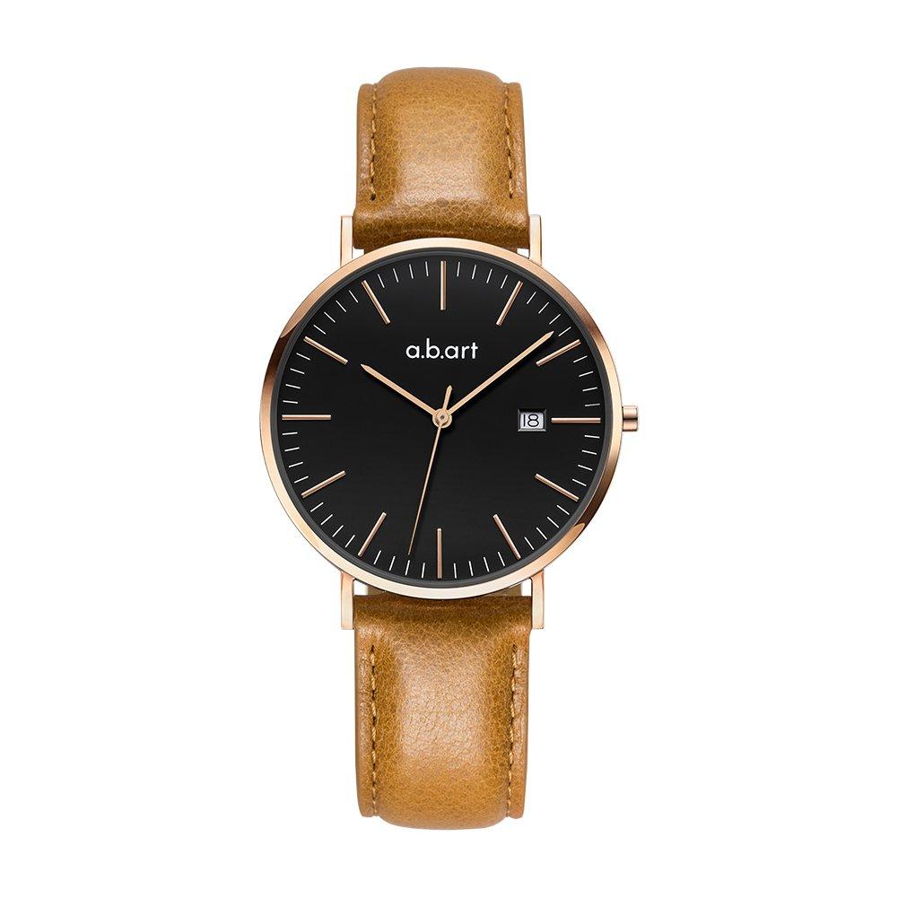a.b.Art FB36-015-3L Women Brown Leather Black Ladies Wrist Watch