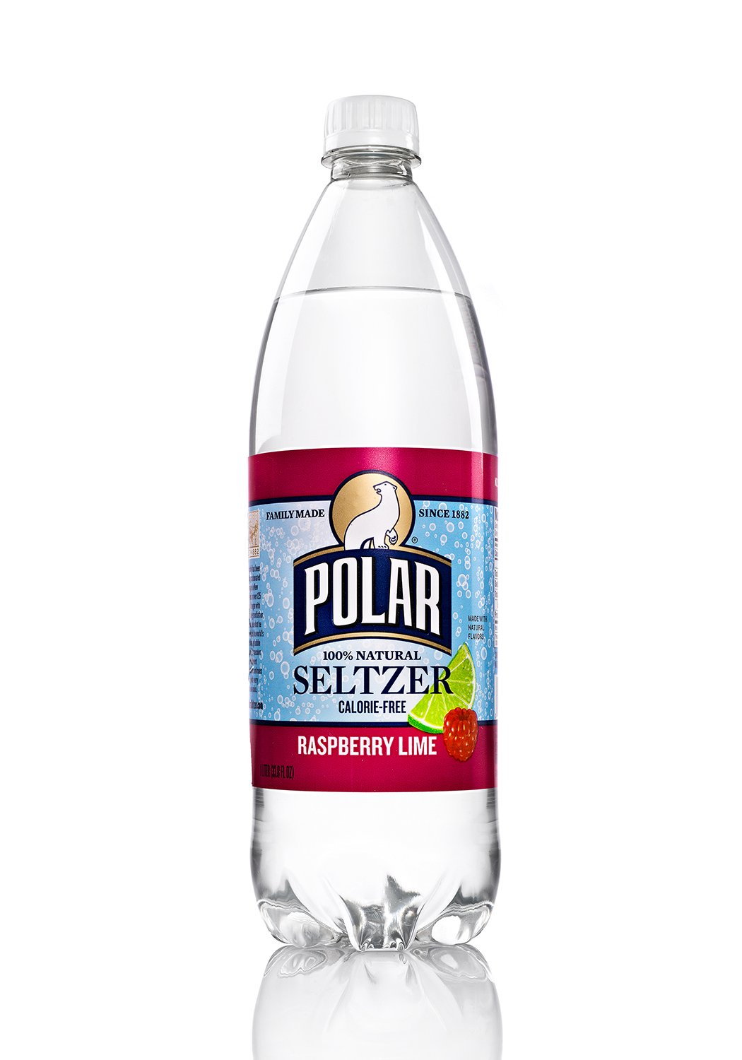 Polar Beverages Seltzer Raspberry Lime, 33.8 Fluid Ounce (Pack of 12) by Polar Beverages
