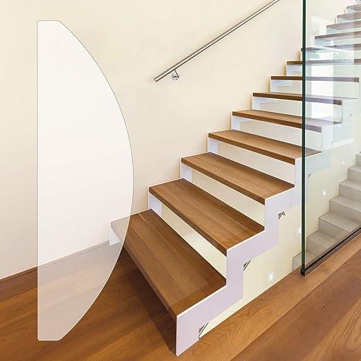 Alfombras para escaleras antideslizante   Premium Pluscalidad: Extremadamente Delgado y transparente   2 en 1: Protección