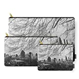 Society6 Rural Church And Graveyard In Early Morning Fog. Hilborough, Norfolk, UK. Carry-All Pouch Set of 3