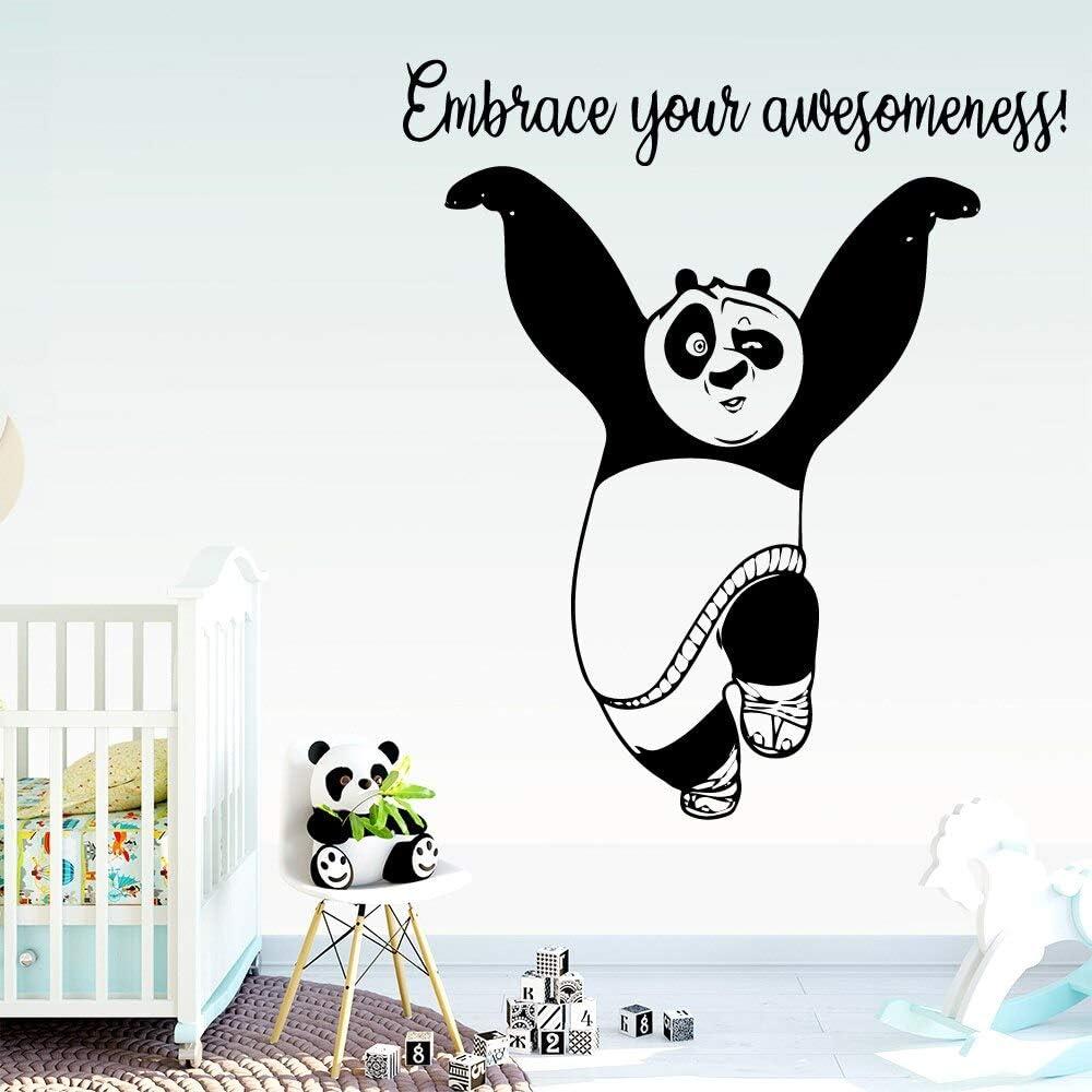 Tianpengyuanshuai Adhesivo de Pared Panda Personalizado vinilos Decorativos 36X40cm