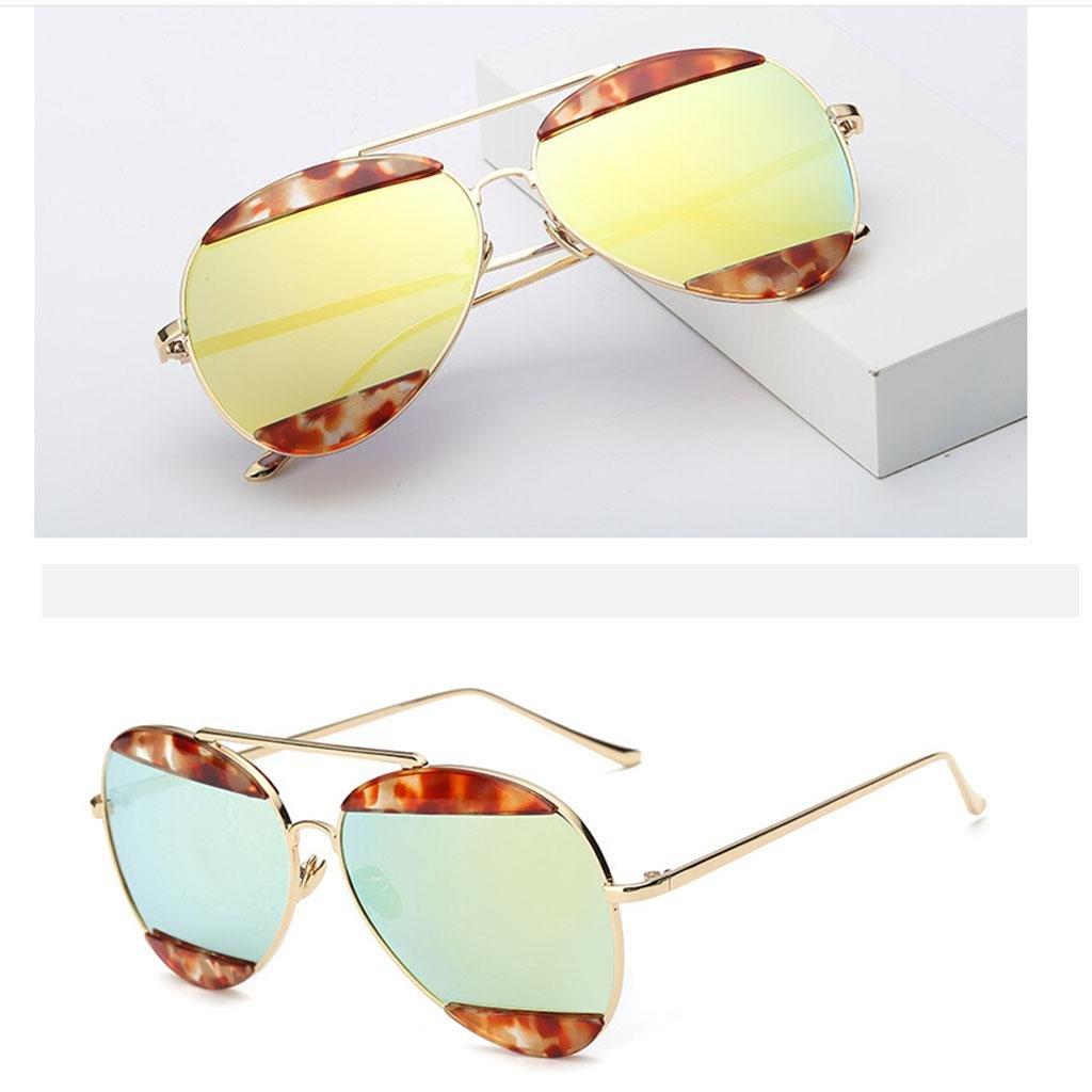 Colorful moda occhiali da sole occhiali da sole in metallo occhiali unisex sopracciglia , 7
