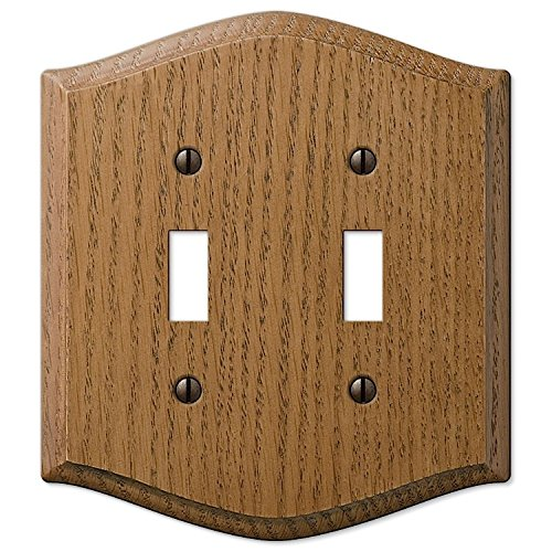 AMERTAC WESTEK 701TT Wallplate Country Oak Wood 2T By Amarelle