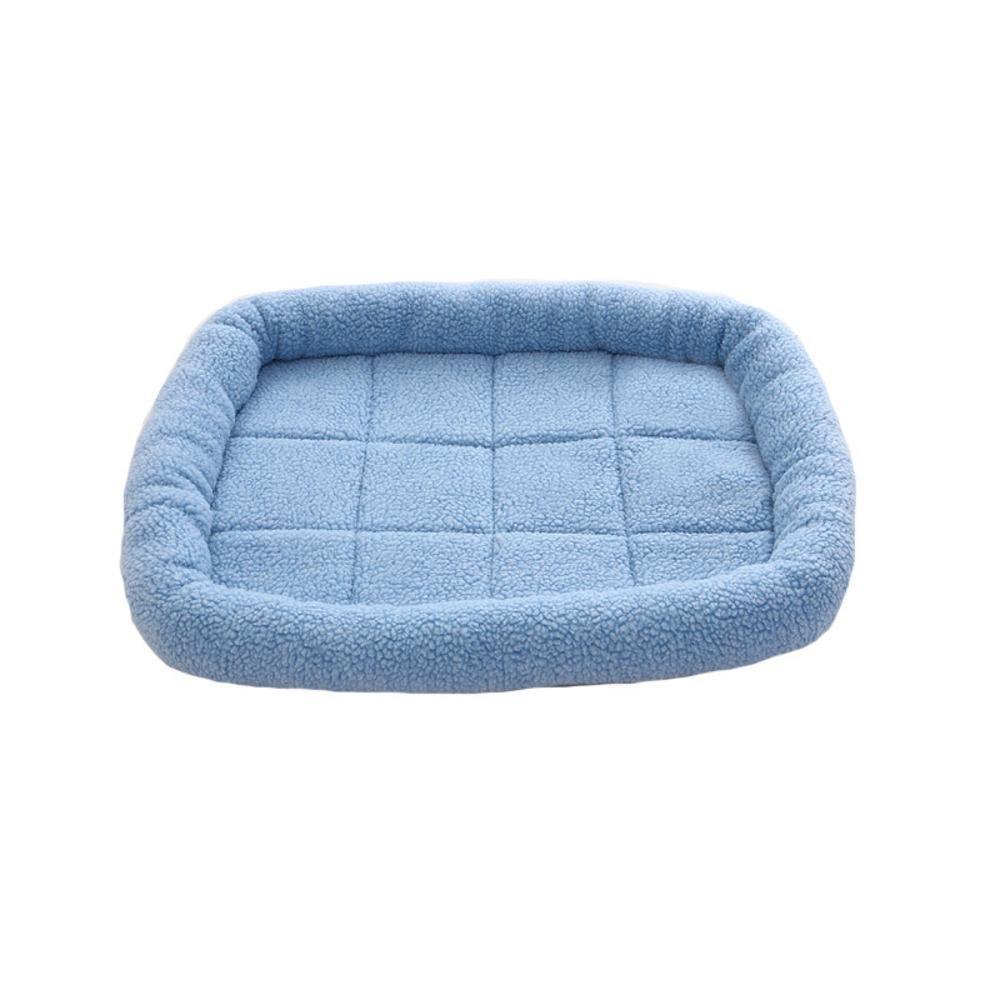 A 5040cmBiuTeFang Pet Bolster Dog Bed Comfort Pet Mat Summer Air conditioning dog mat resistant lamb fleece Pet Nest Mat