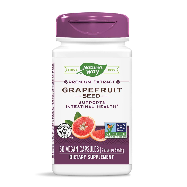 Nature's Way Premium Extract Broad Spectrum Grapefruit 250 mg Potency, 60 Vcaps