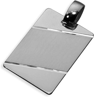 Echt Sterling Silber 925 Anhänger Gravurplatte 25x17mm (Art