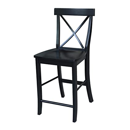 Excellent International Concepts S46 6132 X Back Counterheight Stool 24 Inch Sh Black Cjindustries Chair Design For Home Cjindustriesco