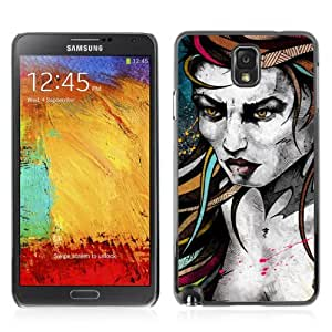 Designer Depo Hard Protection Case for Samsung Galaxy Note 3 N9000 / Tattoo Woman Painting