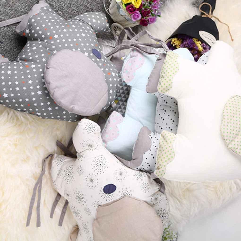 Fornateu Cuna Cama Parachoques 6pcs reci/én Nacido del Respaldo del Amortiguador de Elefante Animal beb/és y ni/ños peque/ños Ropa de Cama Alrededor de la protecci/ón