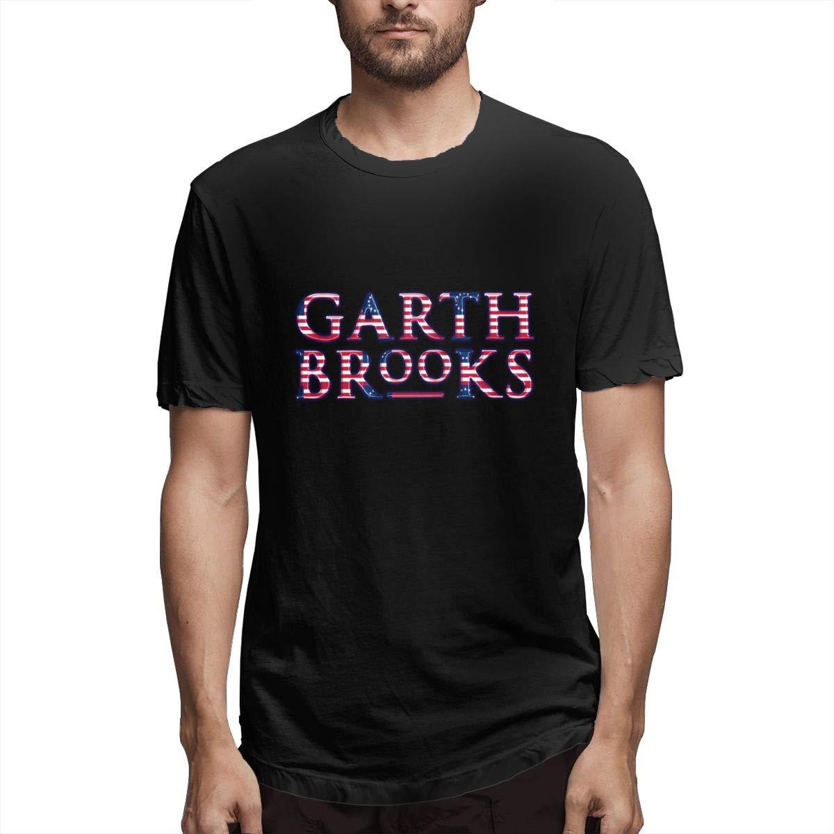 Lihehen Man Garth Brooks Logo Simple Casual Round Neck Tees Shirts