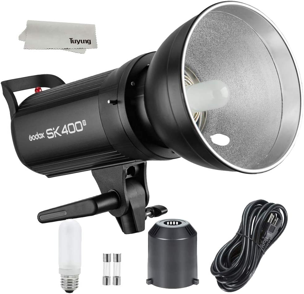 Godox SK400II 400 Monolight with Built-in Godox 2.4G Wireless X System Bowens Mount Strobe Flash for Photography Lighting Portrait Photography