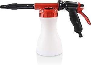DXGTOZA Car Wash Foam Gun Foam Cannon Blaster, Adjustable Hose Wash Sprayer & Adjustment Ratio Dial Foam Blaster Fit for Car Home Cleaning and Any Garden Hose