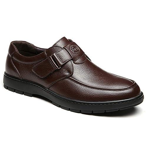 se connecter mieux aimé profitez de la livraison gratuite Homme Chaussure de Cuir Souple de Scratch au Loisir pour ...