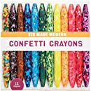 Kid Made Modern Confetti Coloring Crayons - Kids Art Supplies | Set of 12