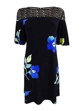 211d826be52 LAUREN RALPH LAUREN Womens Jersey Lace Inset Cocktail Dress at Amazon  Women s Clothing store