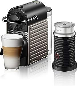 Breville-Nespresso USA BEC460TTN1BUC1 Nespresso Pixie with Aeroccino by Breville-Titan Single-serve, capsule espresso maker, One Size