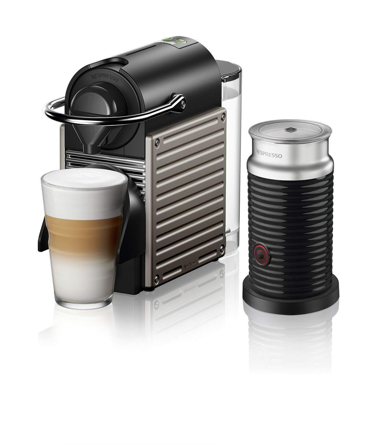 Breville-Nespresso USA BEC460TTN1BUC1 Nespresso Pixie with Aeroccino by Breville-Titan Single-serve, capsule espresso maker, One Size by Breville-Nespresso USA
