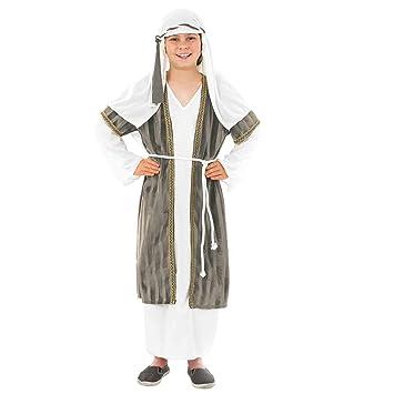 Fun Shack Gris Pastor Disfraz para Niños y Niñas - M: Amazon.es ...