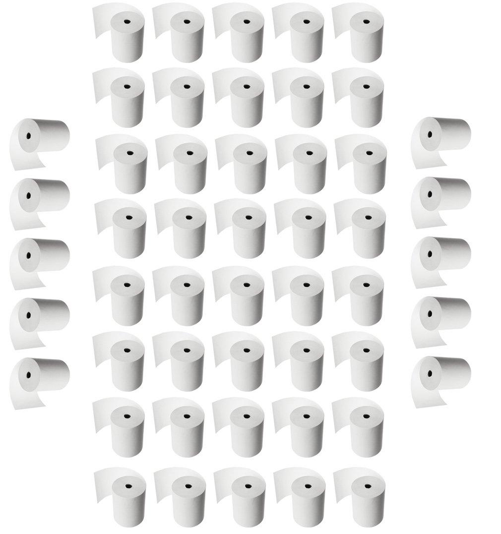 50 Thermorollen 80/80/12 – XXL sehr lang - Kassenrollen Thermo Beleg Thermopapier Bonrollen Rollen für Epson 80mm 80m M-import