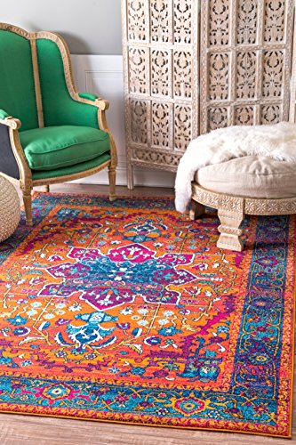 nuLOOM Velva Persian Medallion Area Rug, 4 x 6 , Orange