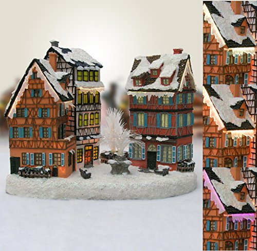 Banberry Christmas Village House with Water Fountain LED ...