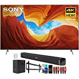 Sony XBR75X900H 75 inch X900H 4K Ultra HD Full Array LED Smart TV (2020 Model) Bundle with Deco Gear Home Theater Soundbar wi
