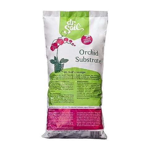 Dr.Soil Tierra Premium para orquídeas en bolsa de 1L, hecho de corteza de pino español de alta calidad y fertilizado naturalmente con Biohumus con ...