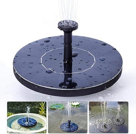 YYLKKB Mini Fuente Solar Fuente Jardín Estanque de Piscina Panel Solar Fuente Flotante Decoración Fuente de Agua Panel Solar: Amazon.es: Jardín