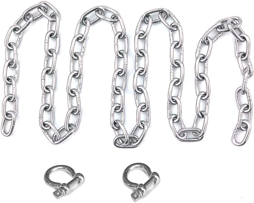 SOFIALXC 304 Stainless Steel Safety Chain Foot Chain,with Quick Link,Loop Chains 3M Long Diameter 3Mm Forboat Docking /& Anchoring Products