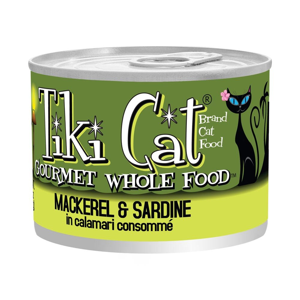 Tikicat Gourmet Whole Food 8-Pack Makaha Luau Mackerel and Sardine in Calamari Consommà Pet Food