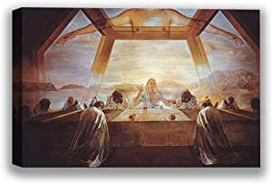 Funny Ugly Christmas Sweater The Sacrament of The Last Supper Canvas Art Dali Fans Gifts Ready to Hang Wall Decor for Kitchen Colorful Artwork Salvador Dali Masterpiece 19