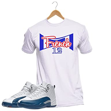 a2dcfff3284b93 French Blue 12 Custom Sneaker Matching T-Shirt 2016 20th Anniversary Retro  Grey (Small