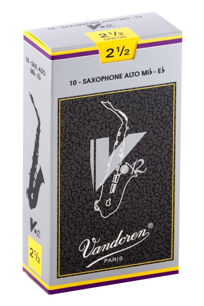 Vandoren SR6125 V12 10 Anches pour Saxophone Alto 2, 5 Accessoires pour bois/Anches