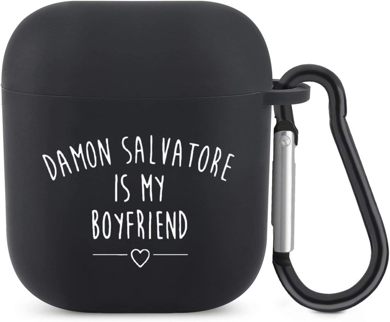 AirPods Case, Damon Salvatore is My Boyfriend Protective Silicone Cover Compatible with Apple AirPods 2 and 1