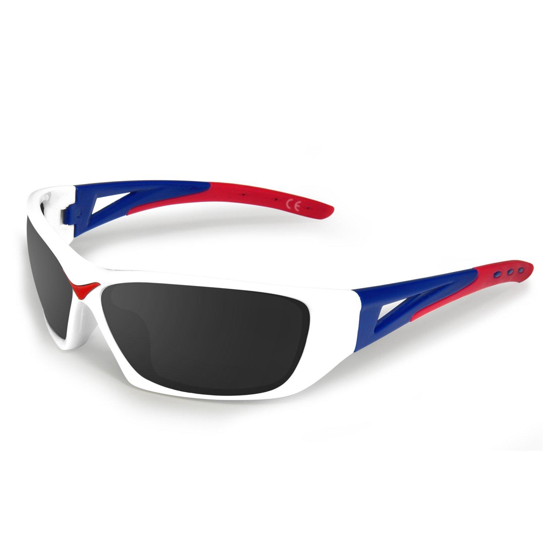 AMZTM Gafas de Ciclismo Gafas de Sol Deportivas Polarizadas para Mujer Hombre Protección UV 400 Ultraligero