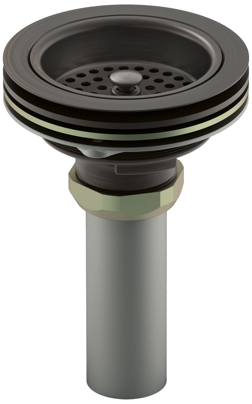 Kohler K-8801-2BZ Duostrainer Sink Strainer, Oil Rubbed Bronze