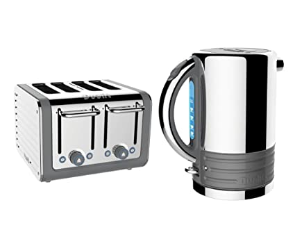 1bca2a8f9298 Dualit Architect Stainless Steel 1.5 L Kettle & 4 Slice Toaster Set  Telegrey: Amazon.co.uk: Kitchen & Home
