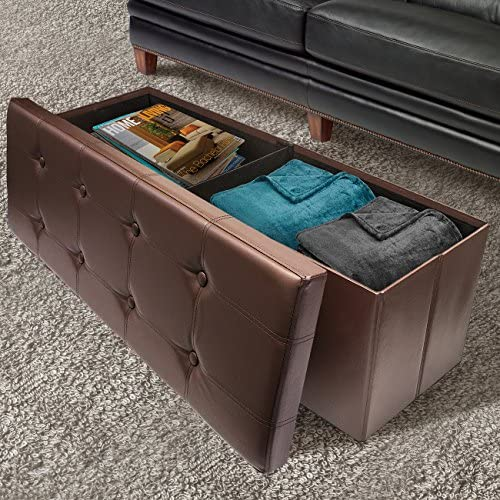 Sorbus Storage Bench Chest Collapsible/Folding Bench Ottoman