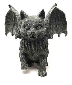 Vampire Dracula Fanged Cat Gargoyle Gothic Candleholder Figurine Sculpture Decor