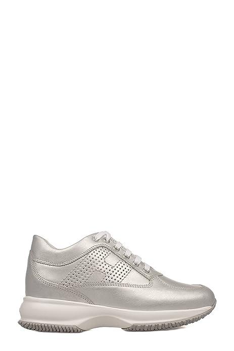 Hogan - Zapatillas para Mujer Plateado Plata IT - Marke Größe, Color Plateado, Talla 40 EU: Amazon.es: Zapatos y complementos