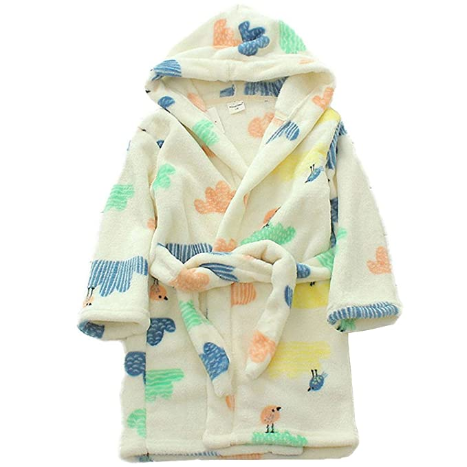 Amazon.com  Unisexy Kids Soft Hooded Robe Toddler Bathrobe Children s  Pajamas Baby Sleepwear  Clothing 507aee294