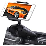 IPOW One Button Installation CD Slot Phone Holder, IPOW Car Mount Cradle Stand for iPhone X 8 8P 7 7P SE 6s 6 6P 5S, Galaxy S8 S7 S6 S5 S4, Google, LG, Huawei, Nexus