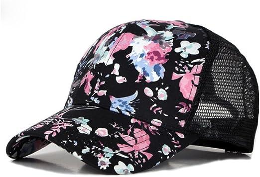 TREESTAR - Gorra de béisbol con diseño de Flores pintadas de ...