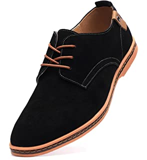 9f7678183fcd DADAWEN Men's Classic Suede Leather Oxford Dress Shoes Business Casual Shoes