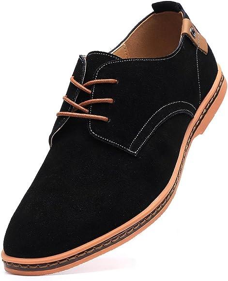 Dadawen Men's Black Leather Oxford Shoe