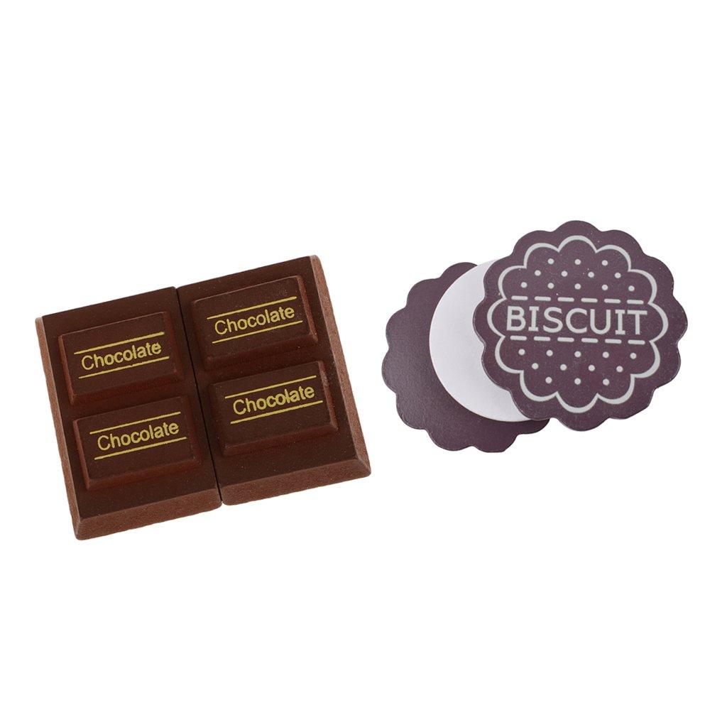 6d66cb852368b2 Amazon   Baosity ウッド製 ままごと キッチン食品 磁性 チョコレート ビスケット 食べ物モデル ふり遊びおもちゃ   セット    おもちゃ